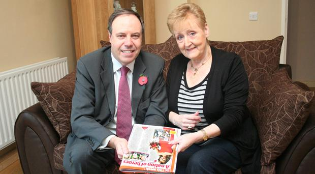 Pride of Britain winner Mary Kelly with north Belfast MP Nigel Dodds