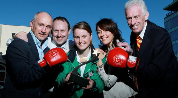 Sporting search: Barry McGuigan, Steven Beacom, Ciara Mageean, Joanne Hayden and Eamonn McCartan are on the lookout for 2010 sporting heroes