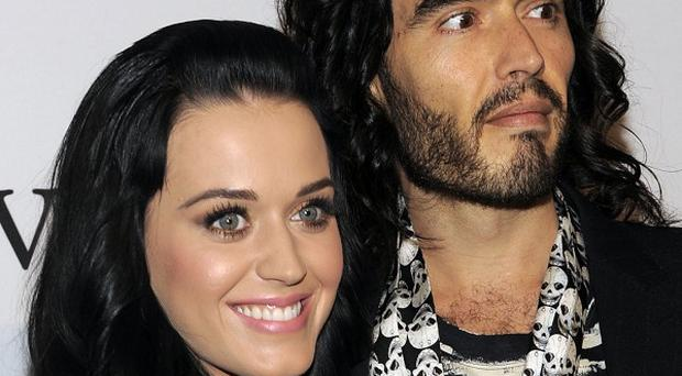 Russell Brand and wife Katy Perry