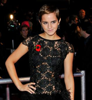 Emma Watson attends the Harry Potter And The Deathly Hallows: Part 1 World film premiere at Odeon Leicester Square, London