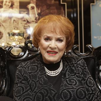 Maureen O'Hara was at the unveiling of the Princess Grace Jewellery collection