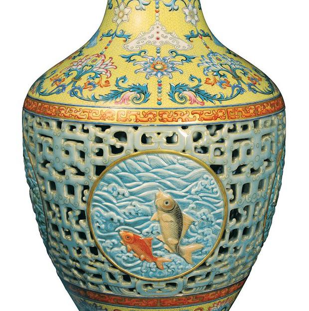 A Chinese vase which was sold for a world record-breaking 43 million pounds