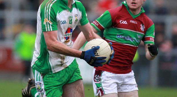 Eamon Toner (left) is one of several Burren players knocking on the door of the Down senior squad