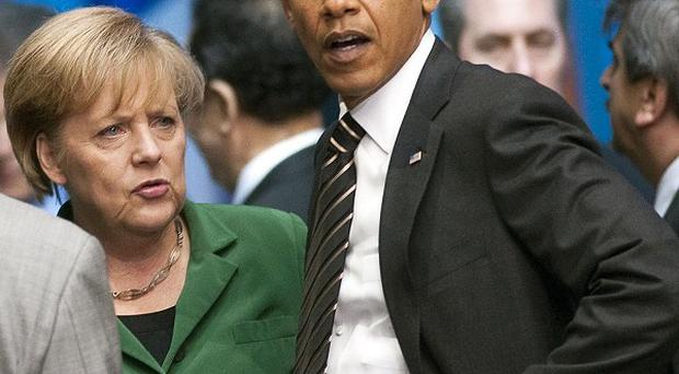 Angela Merkel with Barack Obama at the G20 Summit in Seoul, South Korea