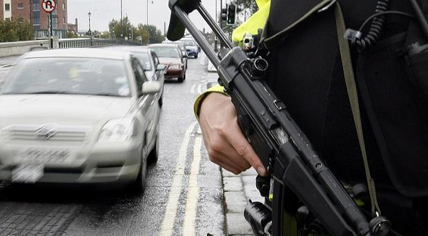 Police have uncovered suspectetd firearms during a probe into dissident republican activity