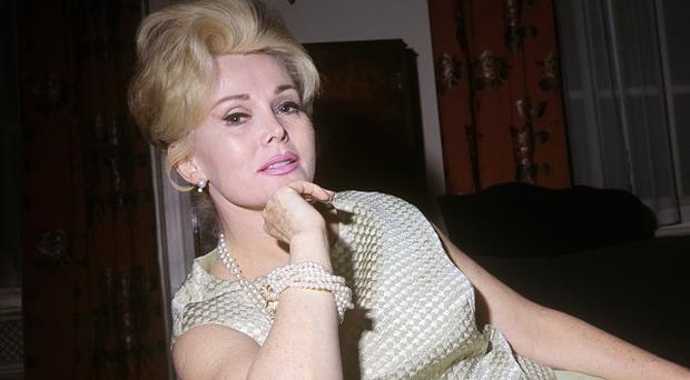 Actress Zsa Zsa Gabor, pictured in London in 1966, has been admitted to hospital in LA