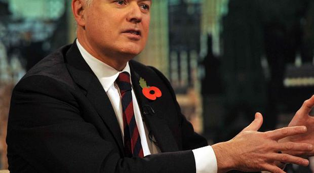 Iain Duncan Smith appearing on the Andrew Marr Show, where he accused Labour of telling 'a pack of lies' about the potential impact of housing benefit reforms