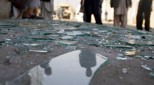 A bomb placed in a wheelbarrow exploded in the provincial capital of Jalalabad, killing at least one civilian (AP)