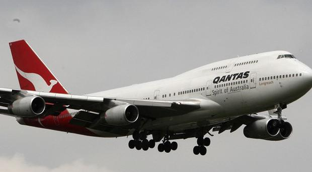 A Qantas Boeing 747was forced to turn back after suffering what the airline believes was an electrical fault