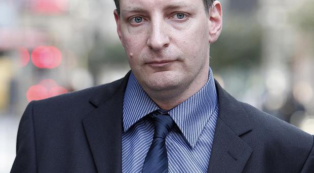 Paul Houston, father of Amy, arrives for the hearing in Manchester
