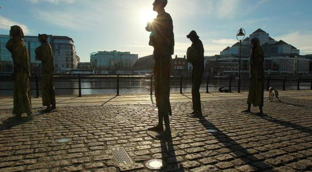 The Famine memorial in Dublin is a reminder of even darker days as the Republic seeks help from its European neighbours