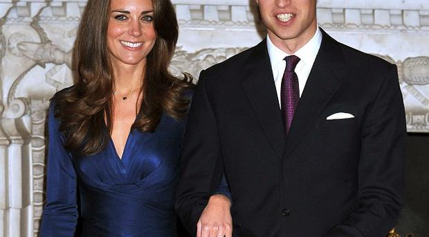 Prince William and Kate Middleton, during a photocall at St James's Palace, London to mark their engagement