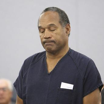 OJ Simpson in court during his sentencing hearing at the Clark County Regional Justice Centre in Las Vegas (AP)