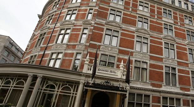 The five-star Connaught hotel in London