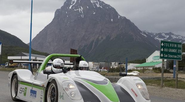 The SRZero became the first electric car to travel from Alaska's Prudhoe Bay to the world's southernmost city of Ushuaia in Argentina (AP)