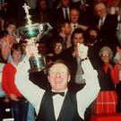 Dennis Taylor after his 1985 world title win