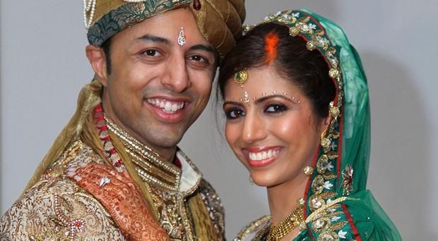Shrien Dewani and murder victim Anni Dewani at their wedding (Bristol Evening Post/PA)