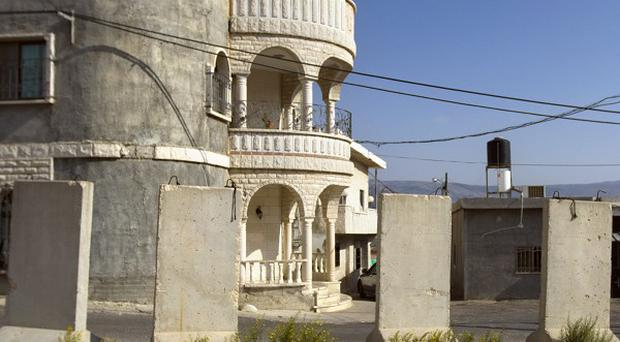 The village of Ghajar on the border of Lebanon and Israel (AP)