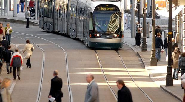 A fire caused major disruption to Nottingham's tram network