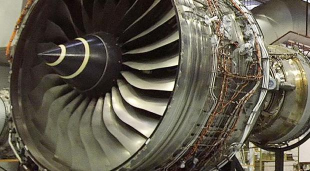 Rolls-Royce's Trent 900 engine of the type that powers the A380 'superjumbo'