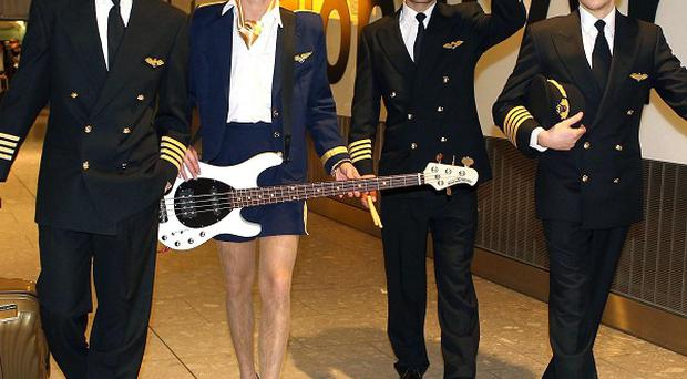 McFly performed at Heathrow airport