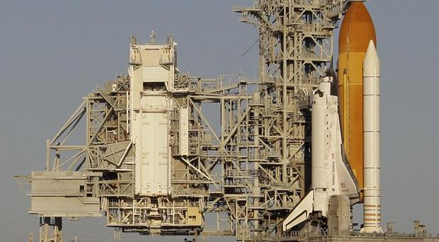 The launch of space shuttle Discovery was scrapped because of a hydrogen gas leak (AP)