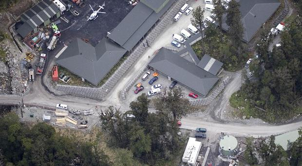 Aerial view of Pike River coal mine near Atarau where 27 workers are missing (AP)