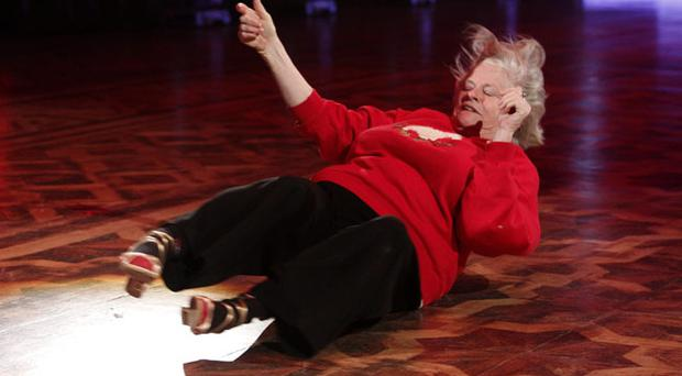 Ann Widdecombe and Anton du Beke go through their routine at Blackpool's Tower Ballroom for ahead of the Strictly Come Dancing show tomorrow. PRESS ASSOCIATION Photo. Picture date: Friday November 19, 2010. Photo credit should read: Peter Byrne/PA Wire