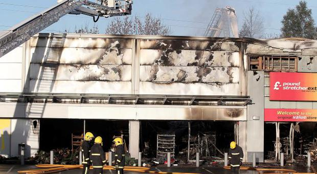 Firefighter tackle fire at Boucher Crescent retail park