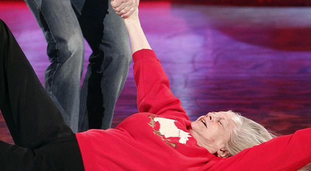 Ann Widdecombe appeared to try out break-dancing in her rehearsals