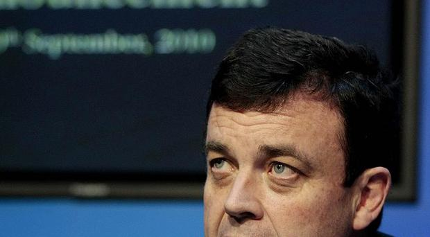 Finance minister Brian Lenihan will ask the government to apply for an EU bailout loan
