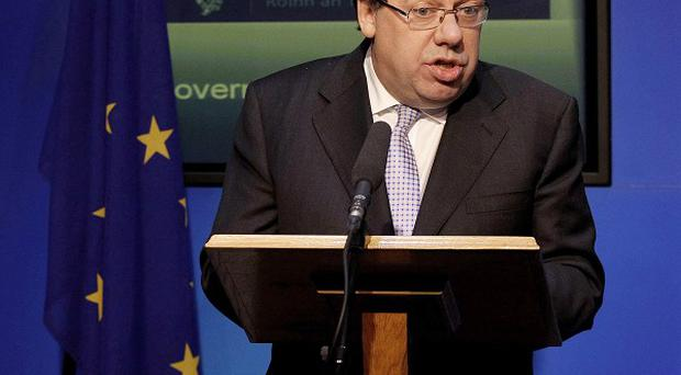 Taoiseach Brian Cowen after Ireland formally appealed for a massive EU-IMF loan (AP)
