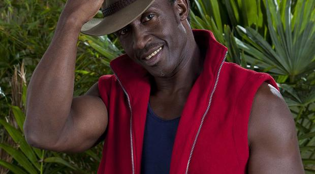 Linford Christie stepped in to save the I'm A Celeb live trial