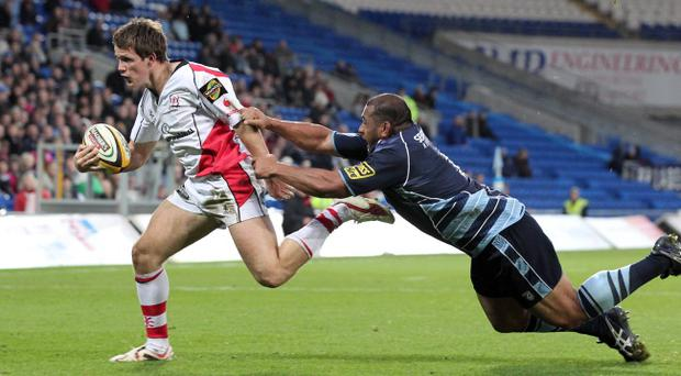 Craig Gilroy makes his senior debut for Ulster with a wonder try during the 37-15 victory in Cardiff