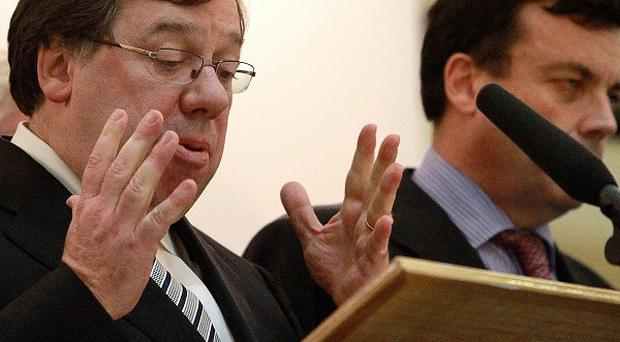 Taoiseach Brian Cowen has come under pressure after the bailout