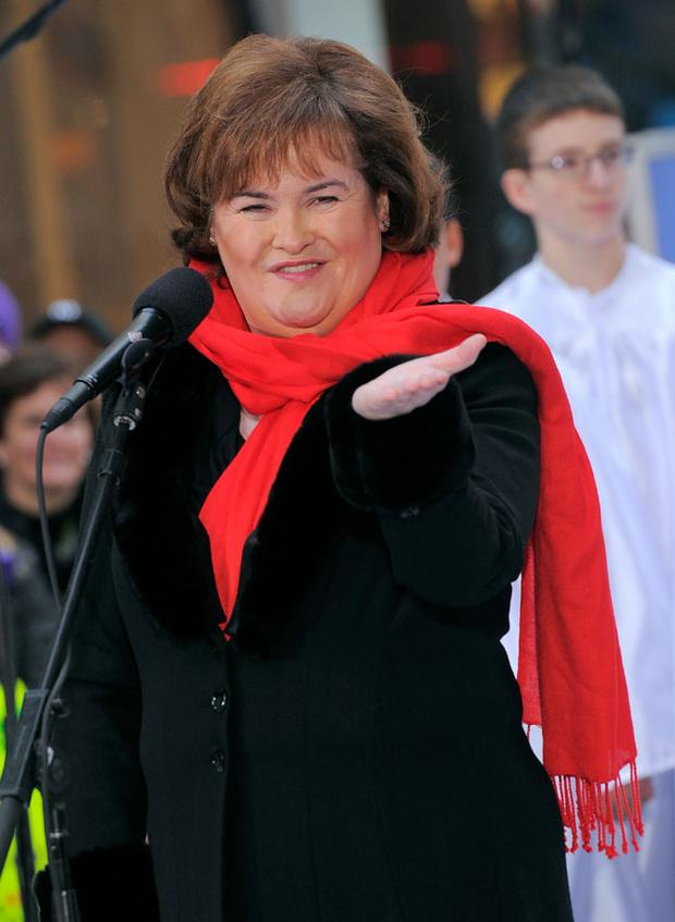 NEW YORK - NOVEMBER 23: Singer Susan Boyle performs on NBC's