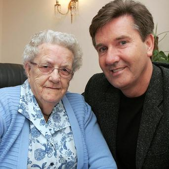 Singer Daniel O'Donnell and his mother Julia