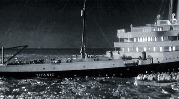 A scene from 1958 movie blockbuster A Night To Remember which told the story of the ill-fated Titanic and was directed by Roy Ward Baker, who has died aged 93