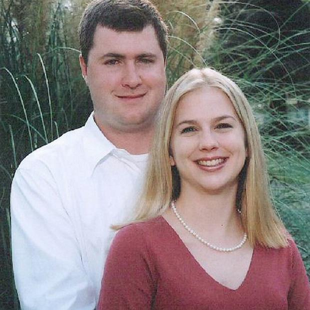 Gabe Watson, whose wife Tina died in 2003, has returned to the US (AP)