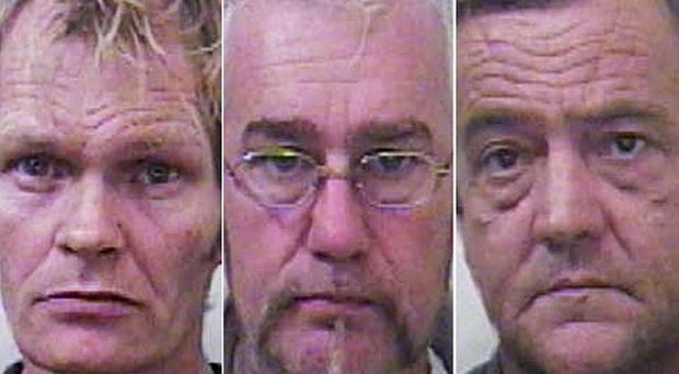 John Barrett, James Machin and John Wrey have been convicted of sexual offences against young girls