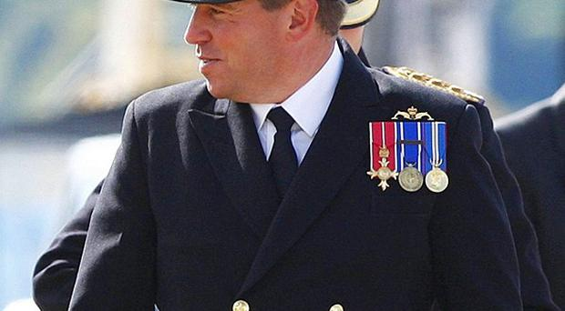 Andy Coles, who is in charge of a nuclear-powered submarine which ran aground has been relieved of his command