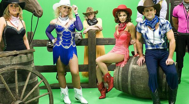 The Strictly Come Dancing gang dressed up in Wild West gear