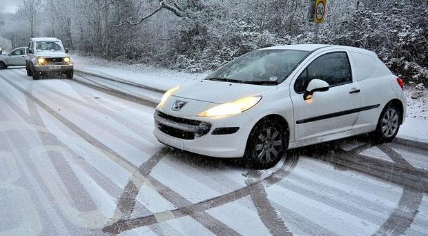 Motorists have been warned to be extra vigilant after heavy snowfall and low temperatures left driving treacherous conditions
