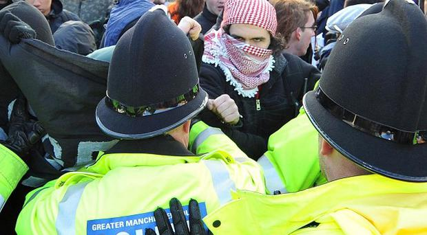 Police have issued a warning to parents over tuition fee demonstrations