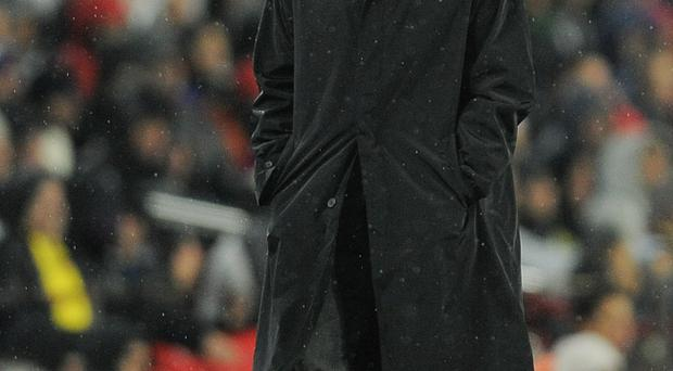 BARCELONA, SPAIN - NOVEMBER 29: Head coach Jose Mourinho of Real Madrid looks down after during the La Liga match between Barcelona and Real Madrid at the Camp Nou Stadium on November 29, 2010 in Barcelona, Spain. Bacelona won 5-0. (Photo by David Ramos/Getty Images)