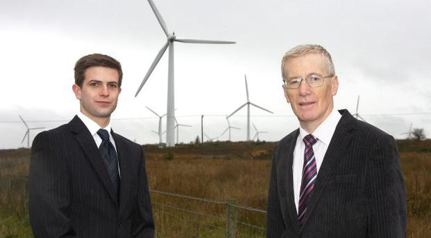 Garth McGimpsey, Altahullion Phase III project manager with East Londonderry MP Gregory Campbell