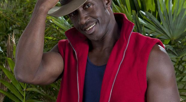 Linford Christie was beaten by Stacey Solomon in the trial