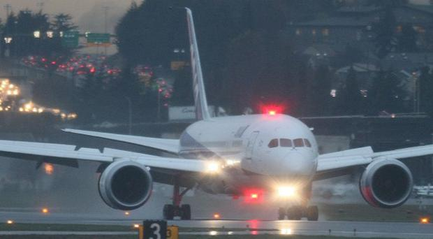 A Boeing 787 damaged by an internal fire returns to Seattle from Texas (AP)