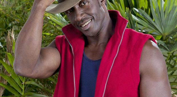 Former Olympic star Linford Christie jumped with joy as he was voted out of I'm A Celebrity...