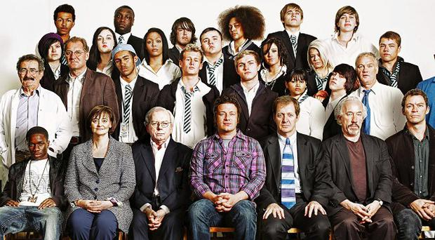 Jamie Oliver with a team of inspirational teachers